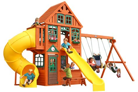 Backyard Playhouse Cedar Summit Premium Play Sets