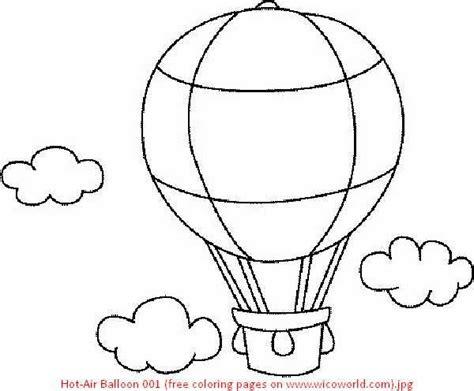 Hot Air Balloon Coloring Page Air Coloring Pages Hot Air Air Coloring Pages