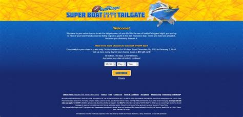 Butterfinger Sweepstakes - butterfinger com super boat golden gate tailgate sweepstakes
