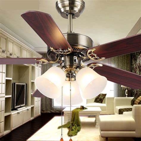 Hot New European Household Fan Lights Fan Living Room L Living Room Ceiling Fans With Lights