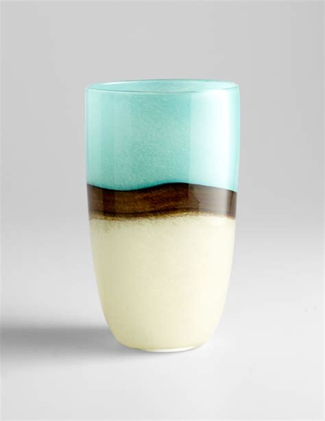 Large Turquoise Glass Vase Large Turquoise Earth Blue Glass Vase By Cyan Design