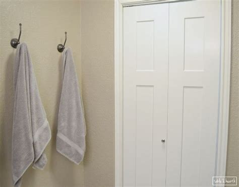 bathroom towel hook ideas hometalk framed fabric towel hook update