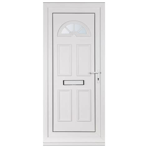 white exterior door front door white upvc georgian glass design