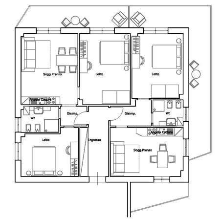 planimetrie appartamenti esempi angiolina apartments sorrento sorrento hotels sorrento