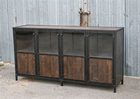 industrial style display cabinet combine 9 industrial furniture reclaimed wood display