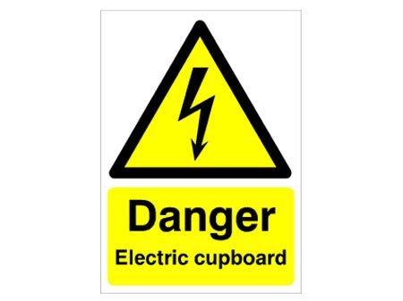 Wall Graphics Stickers electric cupboard warning mirage signs
