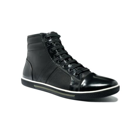 kenneth cole high top sneakers kenneth cole base low high top sneakers in black for