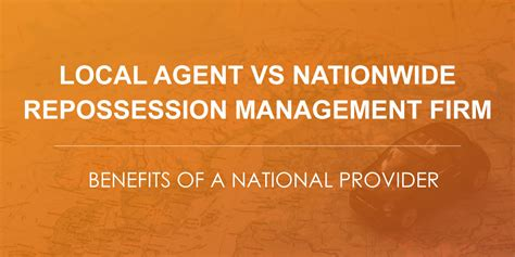 commercial recovery   local agent  national