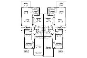 Duplex Floor Plans by Cottage House Plans Wynant 60 024 Associated Designs