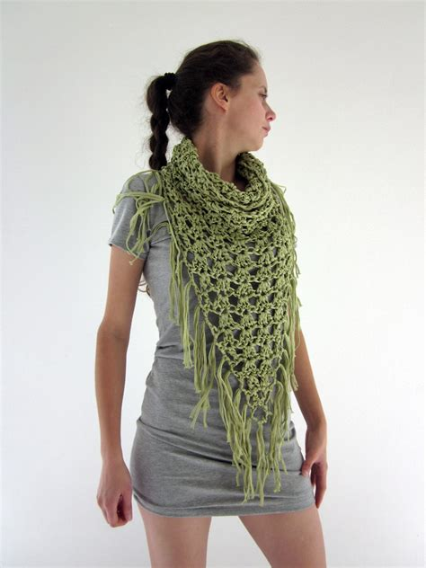 etsy cowl pattern crochet fringe cowl neck scarf pattern crochet and knit
