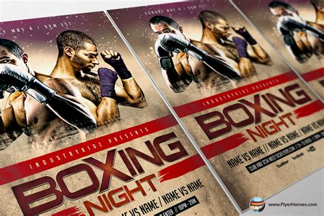 Boxing Fight Card Template by Boxing Psd Flyer Template 4 O Jpg 1396413243