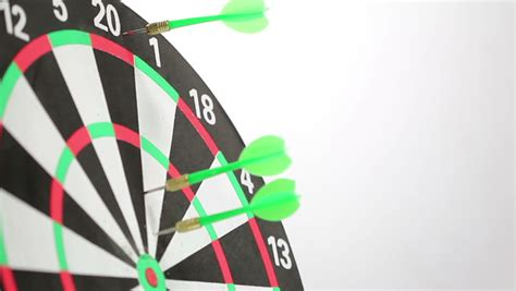 clip on dartboard light motion darts animation with growing graph and