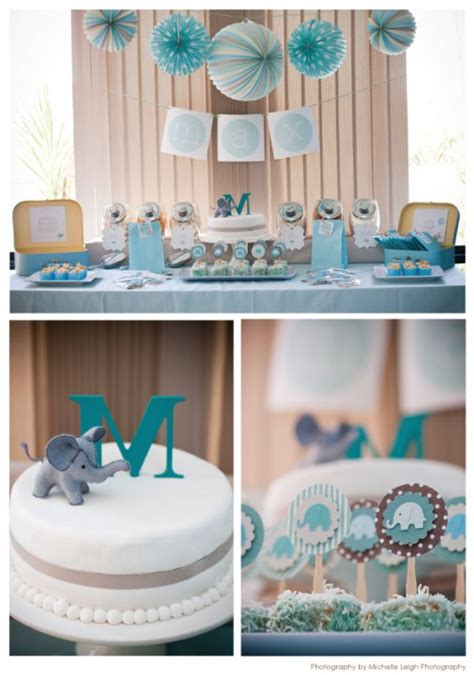 Baby Boy Elephant Themed Baby Shower by Swanky Baby Elephant Makes A Baby Shower Theme