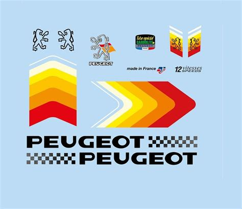 Aufkleber Fahrrad Peugeot by Bicycle Decals For Vintage Classic Contemporary Peugeot