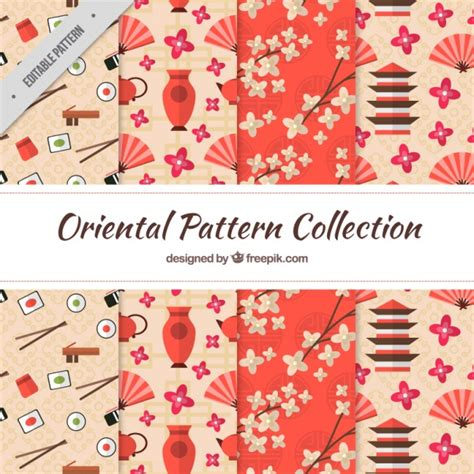 japanese pattern free download japanese patterns in flat design elements vector free
