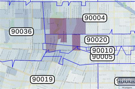 zip code map for los angeles most expensive zip codes for auto insurance include 90020