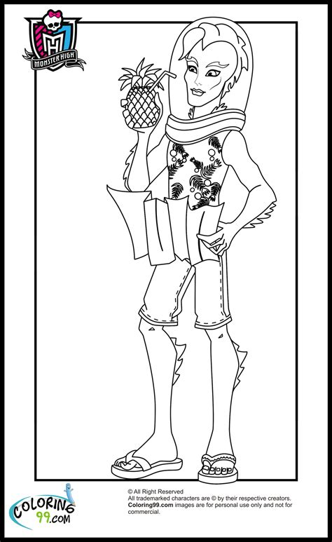great monster high coloring pages clawdeen wolf 16 on coloring