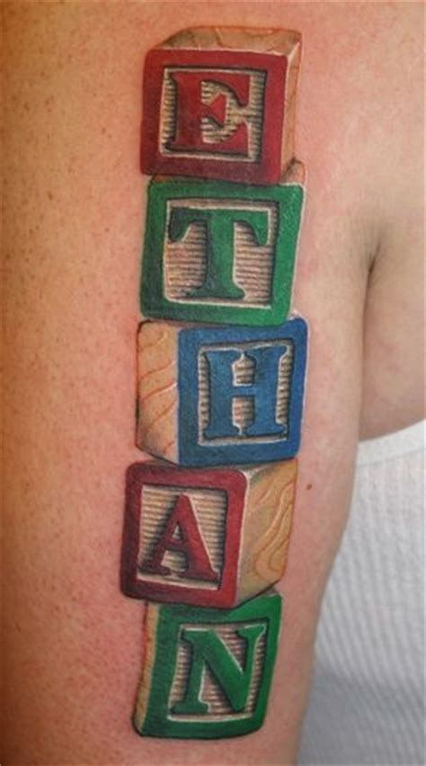 baby block tattoo designs