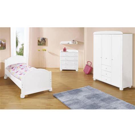chambre enfant bois massif lasur 233 blanc clara