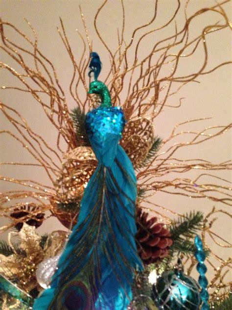 peacock christmas tree tree toppers and peacock christmas