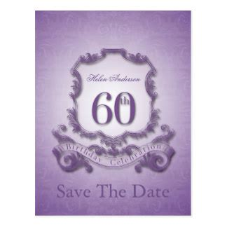 60th Birthday Save The Date Cards 60th Birthday Postcards Zazzle