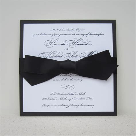 tying ribbon for wedding invitations 3 looks grace wedding invite with bow american wedding