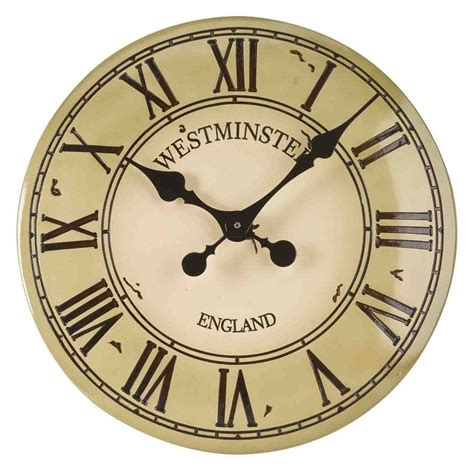 Westminster Garden Clock Cream The Garden Factory Garden Wall Clock
