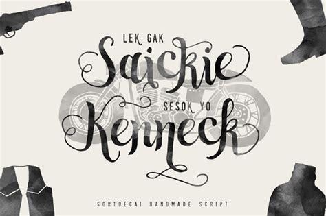 Handmade Script Font - sortdecai handmade script and bonus befonts