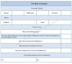 fire risk assessment form fire risk assessment template