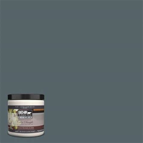 behr premium plus ultra 8 oz home decorators collection blue metal interior exterior paint
