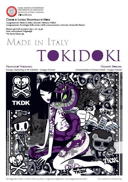 lettere e filosofia unibo lezione speciale made in italy tokidoki