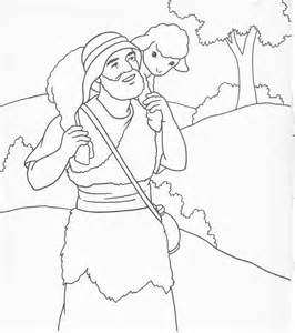 Jesus Lost Sheep Coloring Page sketch template
