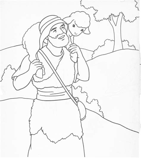 coloring pages jesus the good shepherd the good shepherd