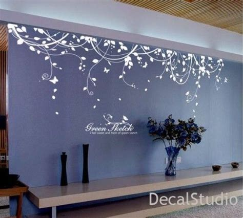 white vinyl sticker wall decal  bedroomliving room