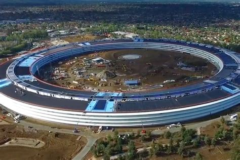 New Apple Headquarters by Watch The Latest Drone Video Of Apple S New 5 Billion