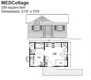 Medcottage Floor Plan by Granny Pods The Oldish