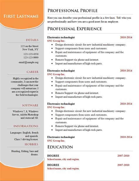basic resume template microsoft word 2007 70 basic resume templates pdf doc psd free premium templates