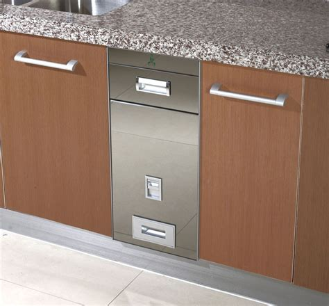 kitchen cabinet storage containers embeded kitchen cabinet steel rice storage container in