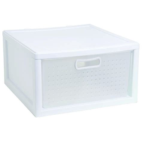 sterilite closet organization closet drawer white