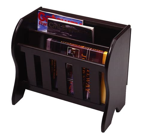 Magazine Rack by Magazine Rack With Side Flip Top Modern Coffee Table