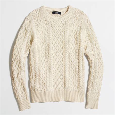 fisherman sweaters fisherman cable crewneck sweater factorymen cotton factory