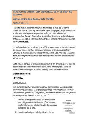 Resumen 5 Pepitas De Naranja by Calam 233 O Viaje Al Centro De La Tierra
