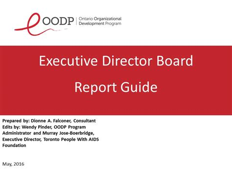 board report oodp executive director board report guide