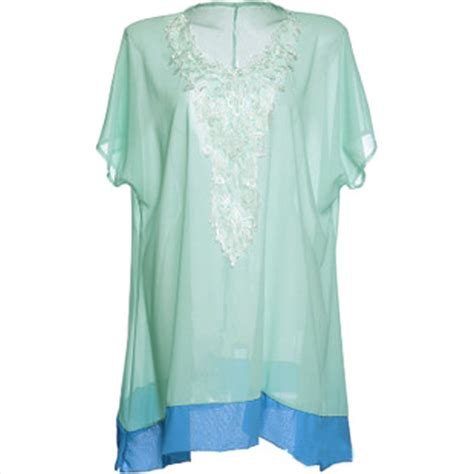 P Blouse Kyoko Kotak Blue zanzea sheer chiffon embroidered blouse blue