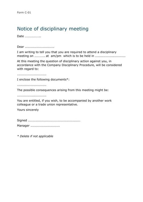 6 sample employee warning notice forms sample forms