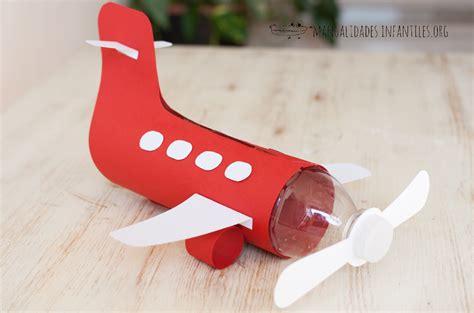 como hacer un avion de material reciclable avi 243 n con botella de pl 225 stico manualidades infantiles