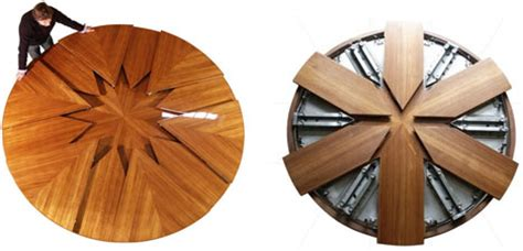 Spinning Expanding Table by High Tech Dining Table Rotates Expands Doubles In Size