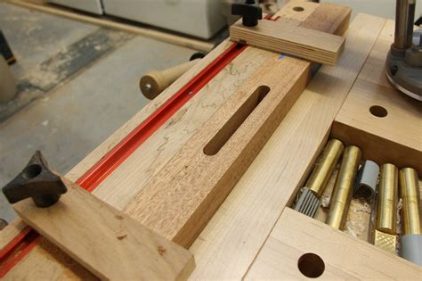 woodworking mortise bryan s router mortising jig the wood whisperer