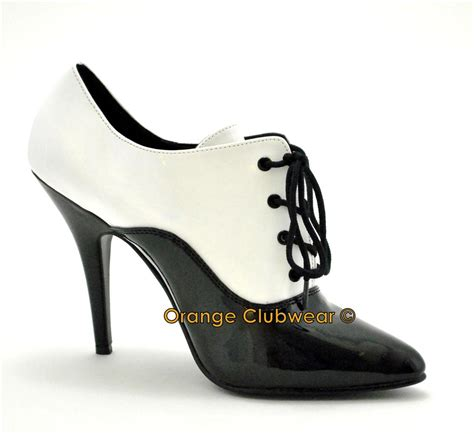high heel oxford shoes pleaser 5 quot high heel s oxford pumps shoes ebay