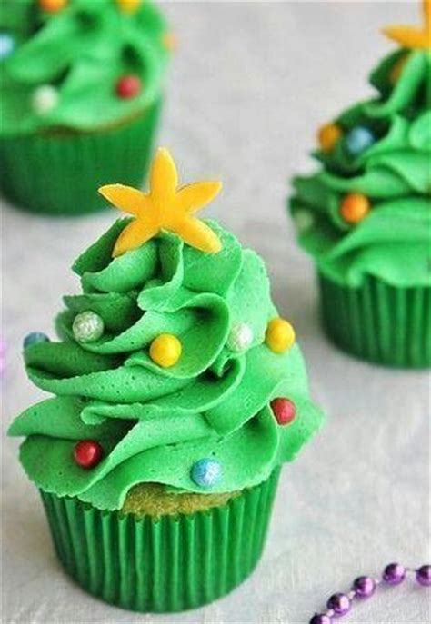 cupcake decorado con forma de 193 rbol de navidad cupcakes
